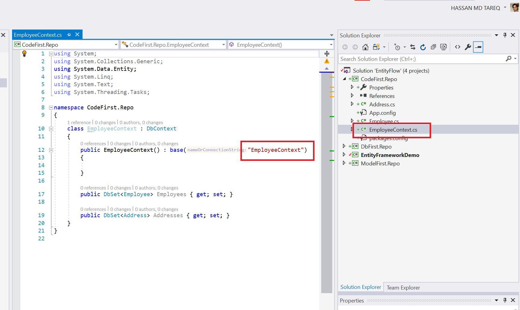 Entity Framework Code Fisrt Approach - Creating edmx from DbContext Step 12